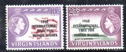 888  490 - VIRGIN ISLANDS 1968 , Yvert N. 188/189  *** - British Virgin Islands
