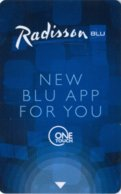 Hotel Key Card, Room Key, Schlusselkarte, Sleutelkaart, Clef De Hotel -Radisson-BLU---New-Blu-App-For-You[2382] - Hotel Keycards