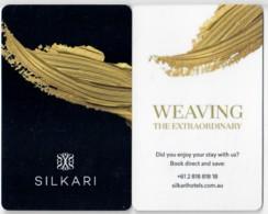 Hotel Key Card, Room Key, Schlusselkarte, Sleutelkaart, Clef De Hotel -Silkari Weaving The Extraordinary Australia-1534 - Cartas De Hotels