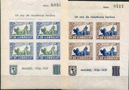 ESPAÑA   LOCALES    Pi Del Llobregat   Nº 25/26-32/33-42/43-48/49    Sin Charnela -915 - Viñetas De La Guerra Civil