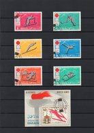 Oman, 1972, 6 Marken/1 Block, Gestempelt/°/stamped, Ol.-Winterspiele Sapporo - Oman