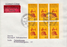 Postal History Cover: Germany Stamps On Express Cover - Tiro Con L'Arco