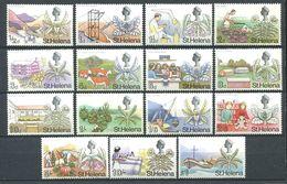 239 SAINTE HELENE 1968 - Yvert 195/209 - Elizabeth II Fleur Et Sujet Divers - Neuf **(MNH) Sans Trace De Charniere - Sainte-Hélène