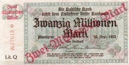 GERMANIA 2 MILLIARDEN MARK 1923-BADISCHE BANC--UNC - [13] Bundeskassenschein