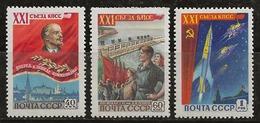 Russie 1959 N° Y&T :  2138 à 2140 ** - 1923-1991 USSR