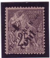 SAINT PIERRE MIQUELON N° 42 TYPE GROUPE SURCHARGE  1892 - Unused Stamps