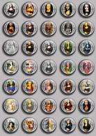 Mona Lisa Fan ART BADGE BUTTON PIN SET 1 (1inch/25mm Diameter) 35 DIFF - Pin's