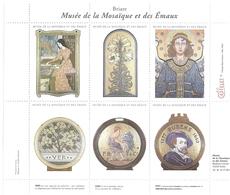 LOT 3 BLOCS DONT: Briare Musée De La Mosaïque Et émaux, Beaux-arts Dijon - Timbres