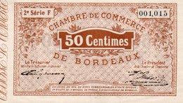 FRANCIA -0,50 CENTIMES 1914-CHAMBRE DE COMMERCE DE BORDEAUX-UNC - Camera Di Commercio