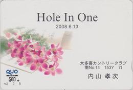 Carte Prépayée Japon Fleur - ORCHIDEE & Sport GOLF - ORCHID - Japan Flower Prepaid Quo Card - ORQUIDEA - 2311 - Fleurs