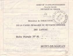 LANDES FACTEUR RECEVEUR ST JEAN DE MARSACQ 1963 - Poststempel (Briefe)