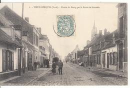 59 - Vieux-Berquin - Entrée Du Bourg Par La Route De Strazeele (animée, 1906, CF Estaires) - France