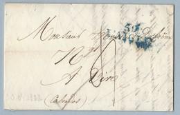 Lettre Avec Correspondance De L' Aigle MP Bleu Vers Vire 30/4/1822 Indice Pothion 6 - 1801-1848: Precursors XIX