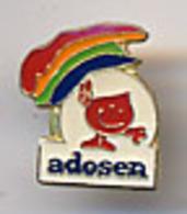"{12640} Pin's "" Adosen "". TBE.   "" En Baisse "" - Pins"