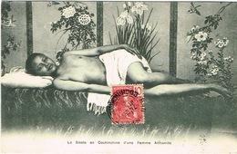 Vietnam Indochine Tonkin Carte Postale Postcard Cochinchine Sieste Femme Annamite Congai Prostitution Coloniale C Port B - Viêt-Nam