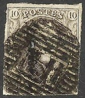 Mooi Gerande Zegel N°10 Met N.II - 1858-1862 Medallions (9/12)