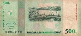 CONGO-500 FRANCS  2010 (Congo Democratic Republic Kinshasa P-100) - Congo