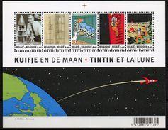 BELGIE BLOCK TINTIN /// KUIFJE EN DE MAAN ET LA LUNE POSTFRIS NEUF GOMME ORIGNE POSTALE MNH ** - Blocs 1962-....