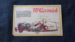 Cpa Publicitaire Publicité Mc Cormick - Lieuse à Tracteur N5 - Publicité