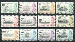 239 TRISTAN DA CUNHA 1971 - Yvert 141/52 Surcharge - Bateau Navire Voilier - Neuf **(MNH) Sans Trace De Charniere - Tristan Da Cunha