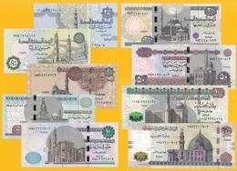 Egypt Full Set 0.25,0.5,1,5,10,20,50,100,200 Pounds UNC - Egypte