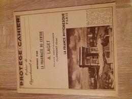 """Protège Cahier """"La France Pittoresque"""" Offert Par Pharmacie LAGET à CLERMONT (OISE) - (Tour Eiffel Et Monuments...) - Book Covers"""