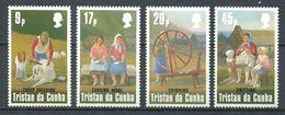 239 TRISTAN DA CUNHA 1984 - Yvert 358/61 - Industrie Lainiere - Neuf **(MNH) Sans Trace De Charniere - Tristan Da Cunha
