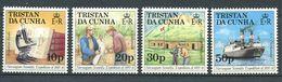 239 TRISTAN DA CUNHA 1987 - Yvert 410/13 - Microscope Oiseau Bateau - Neuf **(MNH) Sans Trace De Charniere - Tristan Da Cunha