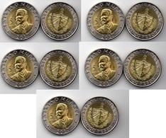 Cuba - 5 Pcs X 5 Pesos 2017 UNC Ukr-OP - Cuba