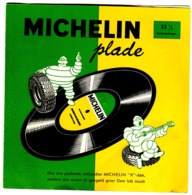 2 Disques 33 Tours PROMOTION PNEUS MICHELIN En Danois 1959 Comme Neufs Très Rares - Voitures