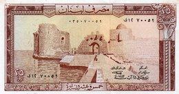 LIBANO 25 LIVRES 1983 P-64  UNC - Libano