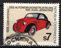 AUSTRIA - 1999 - KARL JENSCHKE - COSTRUTTORE AUTOMOBILISTICO - USATO - 1945-.... 2a Repubblica