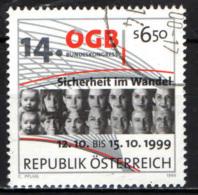 AUSTRIA - 1999 - 14° CONGRESSO DELLA CONFEDERAZIONE GENERALE DEL LAVORO AUSTRIACO - USATO - 1945-.... 2a Repubblica