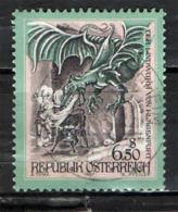 AUSTRIA - 1997 - STORIE E LEGGENDE: IL DRAGO DI KLAGENFURT - USATO - 1945-.... 2a Repubblica
