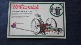 Cpa Publicitaire Publicité -  Mc Cormick Faucheuse à Deux Chevaux (2) - Publicité