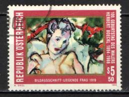AUSTRIA - 1994 - HERBERT BOECKL - PITTORE - LA DONNA CORICATA - USATO - 1945-.... 2a Repubblica