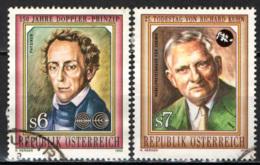 AUSTRIA - 1992 - DOPPLER (matematico) E KUHN (matematico) - USATI - 1945-.... 2a Repubblica