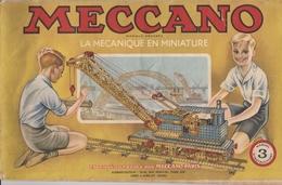 MECCANO - Manuel 3 D'instructions - 37 Pages - Meccano