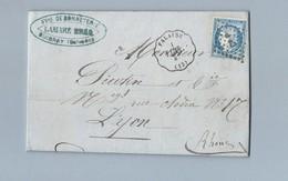 N° 60 Sur Convoyeur Station De Falaise Vers Lyon 1 Mai 1875 - 1849-1876: Classic Period