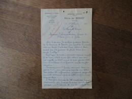 BERNOT AISNE MAIRIE COURRIER DU 12 FEVRIER 1948 LE MAIRE R. DEAL - Historische Dokumente