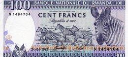 RWANDA 100 FRANCS 1989 P-19  UNC - Rwanda
