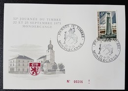 Luxembourg - Journée Du Timbre 1973- Mondercange - Tarjetas Conmemorativas