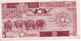 SOMALIA-5 Shilin Soomaali/Somali Shillings 1987  P-31 AUNC - Somalie