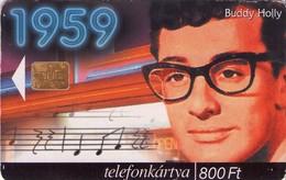 TARJETA TELEFONICA DE HUNGRIA. BUDDY HOLLY, HU-P-1999-42. (015) - Música