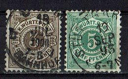Württemberg 1890 // Mi. 55,56 O (029..961) - Wuerttemberg