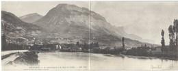 Grenoble - Maxi Carte Postale Panoramique De 1902 - Le Saint-Eynard Et La Dent De Crolles - Grenoble