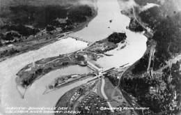 USA Etats-Unis ( OREGON OR ) BONNEVILLE DAM Airview - Columbia River Highway - CPSM Photo 1954 - Etats-Unis