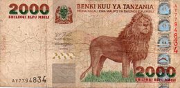 TANZANIA 2,000 Shilingi/Shillings 2003 P-37 - Tanzanie