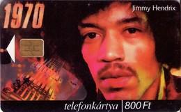 TARJETA TELEFONICA DE HUNGRIA. JIMMY HENDRIX, HU-P-2000-15. (023) - Música