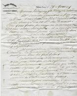 1843 ENTETE FORGES D'Ichoux Larreillet à Ichoux Liposthey Landes Pour Holagray Festugière Marchand De Fers à Bordeaux - France